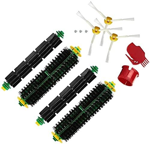 Juego 7 Cepillos Laterales Rodillo Compatibles para iRobot Roomba 500 Serie Aspiradora Accesorio Repuesto, Cepillos Laterales Rodillo Extractor