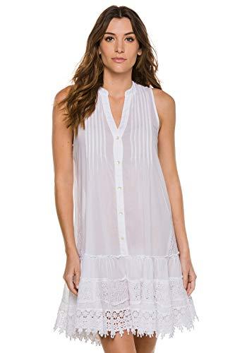 Muche et Muchette Women's Orchidee Sleeveless Dress Swim Cover Up White One