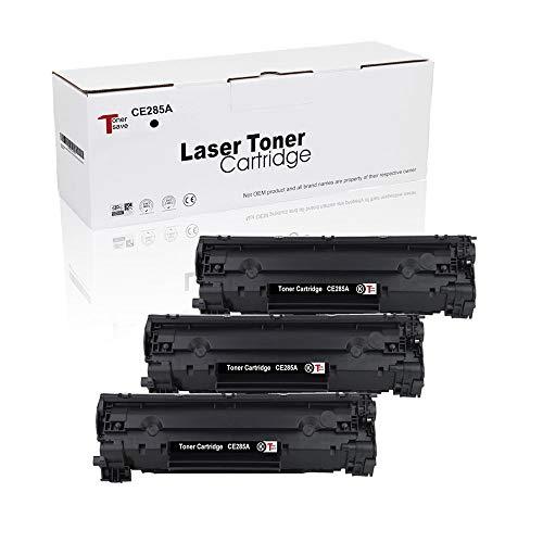 Tonersave - Pack de 3 cartuchos compatibles con HP 85A CE285A para HP Laserjet P1005 P1006 P1505 P1100 1102 P1102W P1102WHP Pro M1132 M1210 M1130 M1212NF M1217NFW M1120 M1120