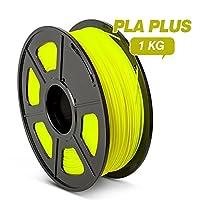 3Dプリンターフィラメント PLA 1.75mm PL PLフィラメント1KG3Dプリンタを選択するための正確さ寸法+/- 0.02mmマルチカラー ほとんどフィットします FDM.プリンタ (Color : PLA PLUS Yellow)