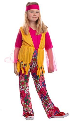Brandsseller Kinder Kostüm Verkleidung für Karneval Fasching Halloween - Hippie S