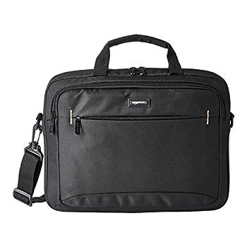 Amazon Basics 14-Inch Laptop Macbook and Tablet Shoulder Bag Carrying Case Black 1-Pack
