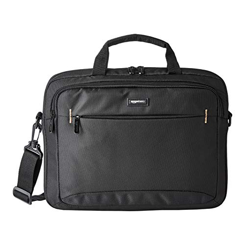 Amazon Basics 14-Inch Laptop Macbook and Tablet Shoulder Bag Carrying Case, Black, 1-Pack