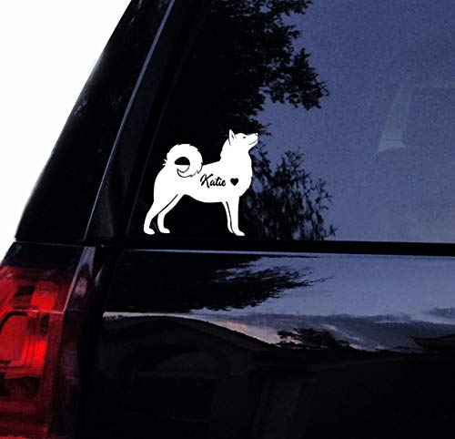 DKISEE Calcomanía de perro Husky – Personalización gratis lindo Husky – Huskie...