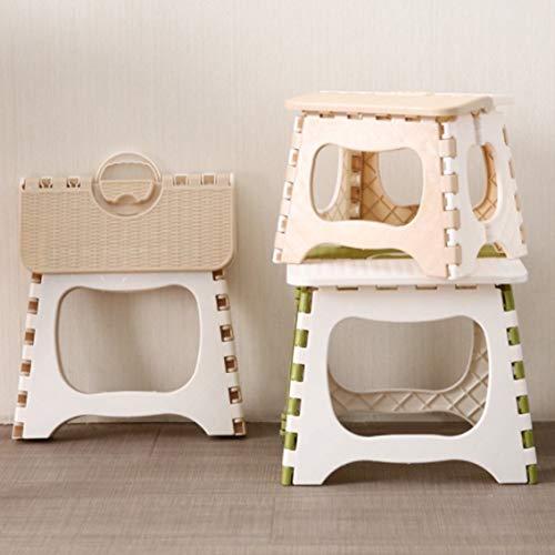 Panamami Klappbarer Tritthocker, zusammenklappbar, Kunststoff, tragbar, klein, für Kinder, Erwachsene, Outdoor, Badezimmer, Reisen, Grün