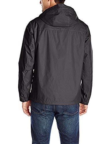 Tommy Hilfiger Men's Waterproof Breathable Hooded Jacket, Black, Medium