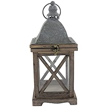 Park Hill 14  x 6  Rustic Style Wood Lantern