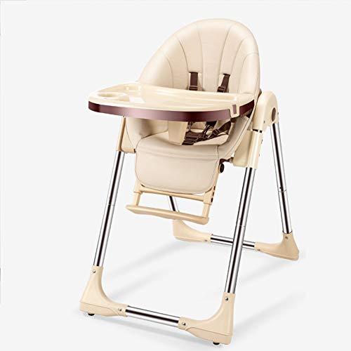Kinderhochstuhl Multifunktionaler tragbarer klappbarer Kinder-Esstisch, Metall-Esstisch. Zweilagiger Esstisch mit Pyramidenstruktur