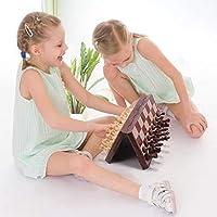 Fixget Set di Scacchi, 30 x 30cm Scacchiera Magnetica Dama Pieghevole Portatile per Bambini e Adulti per Viaggi #3