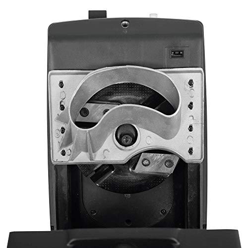 DELTAFOX Trinciatrice elettrica a coltelli [DG-EKS 2445-2400 W] include Sacco di raccolta da 45 litri - leggero da 12 kg - ruote di scorrimento con copriruota - biotrituratore per rami da 45 mm