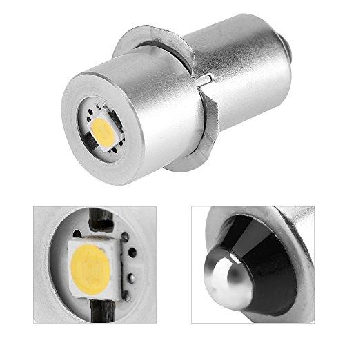 Ampoule de Lampe de Poche LED Puissance 1W 6-24V Pièce de Rechange Led Kit de Conversion Ampoules LED Haute Luminosité de Travail D'urgence Lampe de Poche Lampe de Poche Ampoules de Rechange(4.5V)