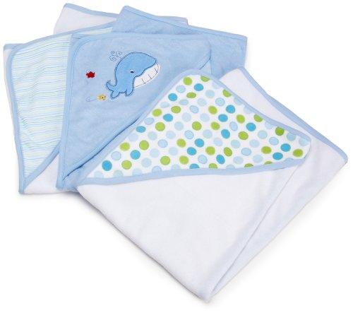 Spasilk Baby 3 Pack Soft Terry Hooded Towel Set for Newborn...