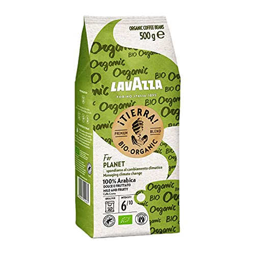 Lavazza ¡Tierra! For Planet, 500g Packung, 100{6cbb76c01b54801f047d1dc3c37dae0820138eb31e7468bcf985893bbe644216} hochwertige Arabica Kaffeebohnen, Heller Röstgrad