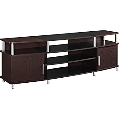 Ameriwood Home Carson TV Stand for TVs up to 70  Wide (Cherry)