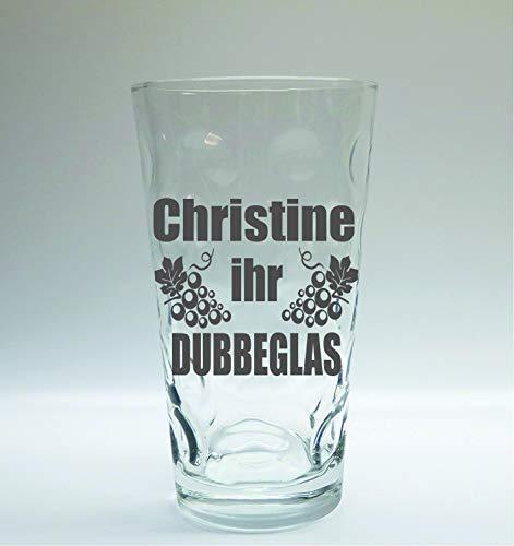 Böckling Dubbeglas mit Gravur 0,5 Liter/Name SOI-sei-Ihr Dubbeglas