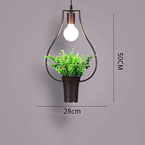 JUN Gzz Deng Home buitenverlichting moderne vintage hanglamp hanglamp industriële verlichting plant bonsai E keuken woonkamer slaapkamer kroonluchter decoratieve