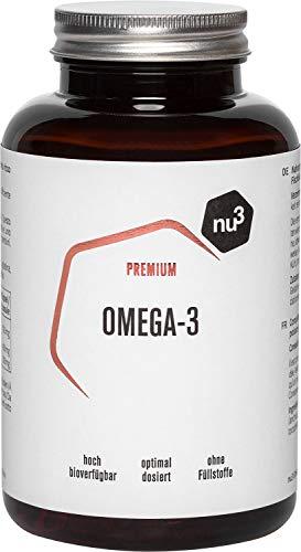 nu3 Omega 3 Kapseln - 120 Kapseln - Dose reicht für 4 Monate - extra viel Omega-3 pro Tagesdosis - 700mg Omega-3-Fettsäuren pro Fischölkapsel - 400 mg EPA und 200 mg DHA - aus nachhaltiger Fischerei