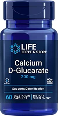 Life Extension Calcium D-Glucarate, 200mg, 60 vcaps