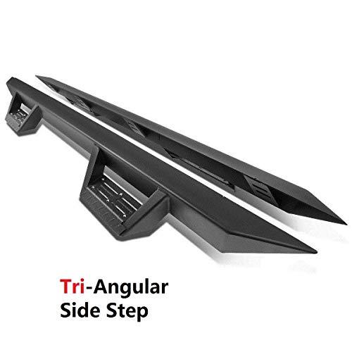 Ajaa 2010-2018 FiT Dodge Ram 1500 2500 3500 Quad Cab (2 Small Rear Door) Black Triangle Running Boards (Nerf Bars   Side Steps   Rail)