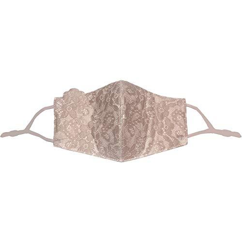 1 Stücke Frauen Baumwolle Wiederverwendbare und waschbare Spitzenmaske für Erwachsene Anti Fog Staubdichtes und verdicktes Bandana Multifunktional Halstuch (D, Einheitsgröße)