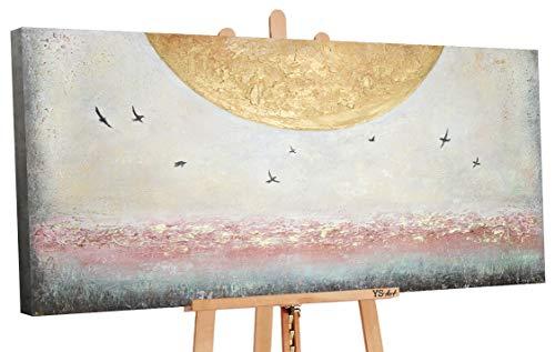 YS-Art Premium   Cuadro Acrílico Energía del Sol I   Pintado a Mano   Arte Moderno   Lienzo De Pared   único   Multicolor   PS092 (160 x 80 cm)