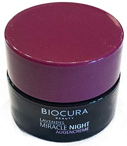 Biocura Miracle Night Lavendel Augencreme im 15 ml Tiegel MADE in Germany