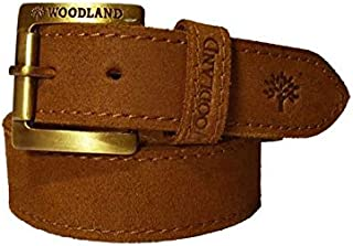 Woodland Boy's Leather Belt (LZ30, Camel Beize, 28-inches)