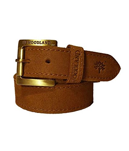 Woodland Men's Leather Belt (Camel Brown, 40inch)