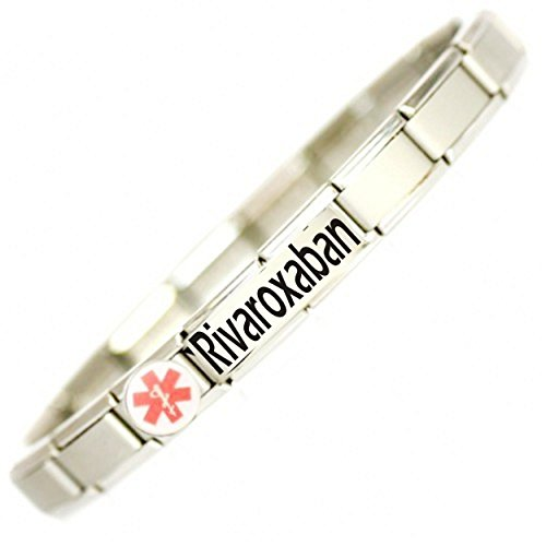Daisy Charm Rivaroxaban User (Alternative to warfarin) Medical ID Alert Bracelet.