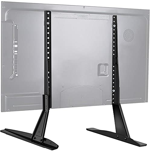 PERLESMITH Universal Table Top TV Stand for 22 - 65 Inch Flat Screen, LCD TVs Premium Height Adjustable Leg Stand Holds up to 110lbs, VESA up to 800x500mm
