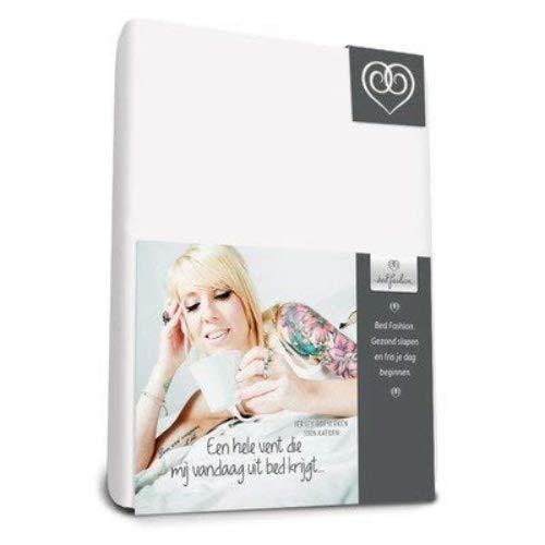 Bed-Fashion Spannbetttuch, Jersey, weiß, Single, 90x 210cm