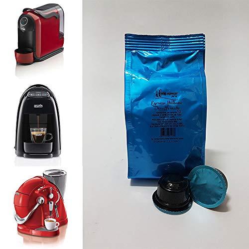 100 cápsulas compatibles Caffitaly Espresso Decaffeinato – 10 bolsas de 10 cápsulas descafeinado para cafetera Caffitaly – Cápsulas dedicadas a máquinas Caffitaly – Il Mio Espresso