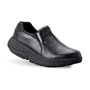 Gravity Defyer Men's G-Defy Compass 2.0 Work Shoes 8.5 M US - VersoShock All Day Comfort Slip-on Shoes Supportive Slip Resistant Clogs Black