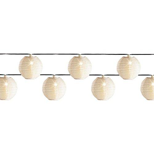 LED Lichterkette 20 LED Weisse Laternen Lampions 20 warmweisse LED Aussen Dekoration