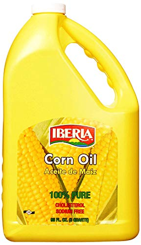 Iberia Corn Oil, 96 Fl Oz High Smoke Pt. Cooking Oil, All Purpose Cooking Oil for Grilling, Sautéing, Stir Frying & Baking