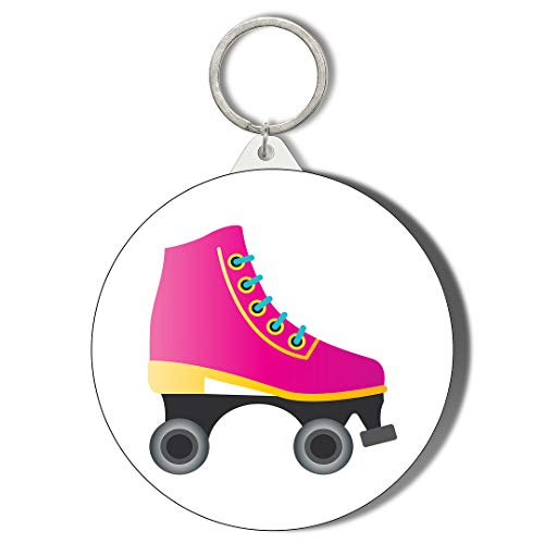 80s Pink Roller Skate Keyring