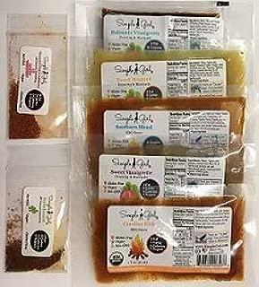Simple Girl Sample Pack - Organic, Low Sugar, Sugar-Free Dressing and Sauce Samples - No MSG, Carb Free, Vegan, Diabetic Friendly, All Natural