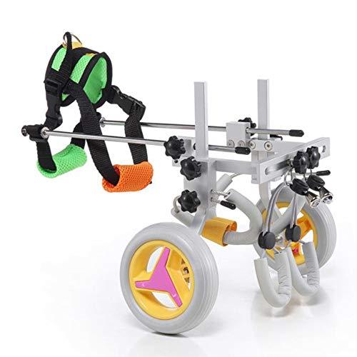 HXSM Silla De Ruedas para Perros para Rehabilitación De Patas Traseras, Carro para Mascotas para Discapacitados, Ciclomotor Scooter De Rehabilitación para Gatos/Perros/Mascotas (4-9 Kg)