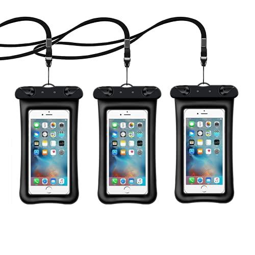Custodia Impermeabile Smartphone Borsa, 3 Pezzi 7 Pollici IPX8 Impermeabile Sacchetto Universale con Finestre Trasparenti, per iPhone 12 11 XR XS Max XR XS X Samsung Galaxy Xiaomi Redmi Huawei P40 P30