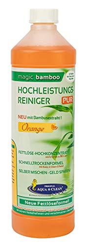 AQUA CLEAN Magic Bamboo Hochleistungsreiniger 1l Hochkonzentrat (Orange)