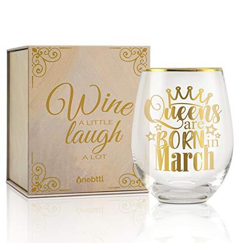 Lustige Geburtstagsgeschenke für Frauen, Freundin, Freunde, Mitarbeiter, Frau, Mutter, Tochter, Schwester, Tante– Weinglas ohne Stiel - 530 ml