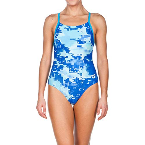 Arena Women's Molt Light Drop Back One Piece Swimsuit, Turquoise, Size 28