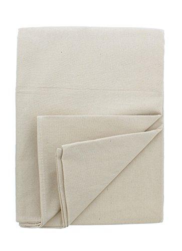 ABN Leinen-Tücher – Maler Drop Cloth Runner Bodenabdeckung für Malerei oder Drop Cloth Vorhänge 6' x 9' weiß