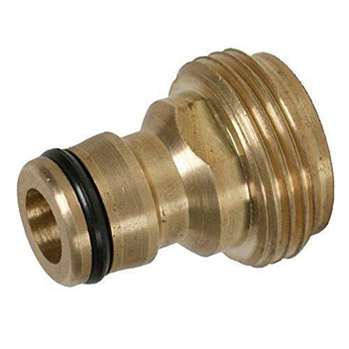 Silverline 244973 - Conector de latón para grifos con rosca (Macho 1/2')