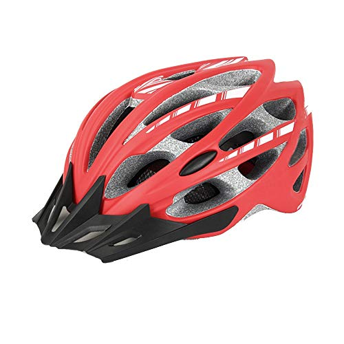 HQQ Bicicleta de montaña bicicleta bicicleta montar casco sombrero camino insectos red equipo hombres y mujeres (Color : Red, Size : Medium)