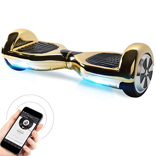 "BEBK Hoverboard 6.5\"" Smart Self Balance Scooter mit Bluetooth, Overboard mit selbstsymmetrischer LED Scooter geprüft UL 2272, 2 * 250W Motor, U1-C, N1-BY01-10"