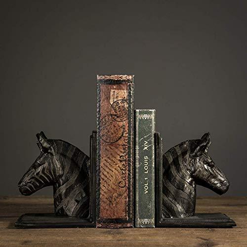 LHQ-HQ Libro nórdico vintage bloque decoración americana casa estudio libro por modelo casa decoración caballo cabeza libro decoración 16x11x16cm libro soporte decoración habitación