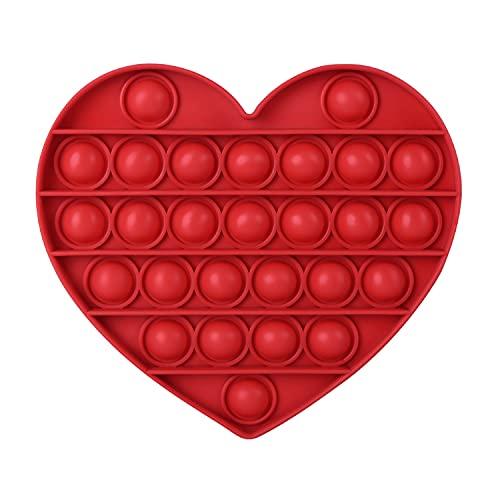 AKUDY Push Pop Bubble Fidget Toy, Sensory Fidget Toys for Kids Adults, One Side Louder Push Bubbles...
