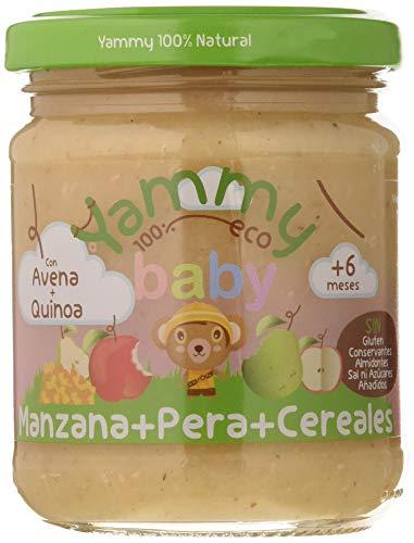 Yammy, Potito ecológico de Manzana, Pera y Cereales(Quinoa Avena) a partir de 4 meses -12 de 195 gr. (Total 2340 gr.)