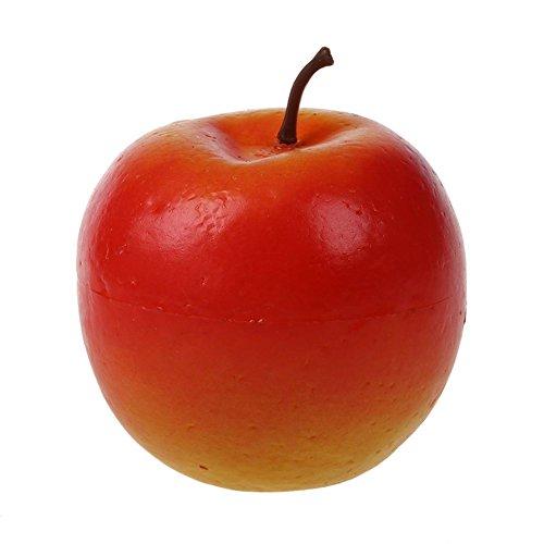 ACAMPTAR 1 Stueck Dekorativer Grosser Kuenstlicher Roter Apfel Plastik Frucht Hause Party Dekor